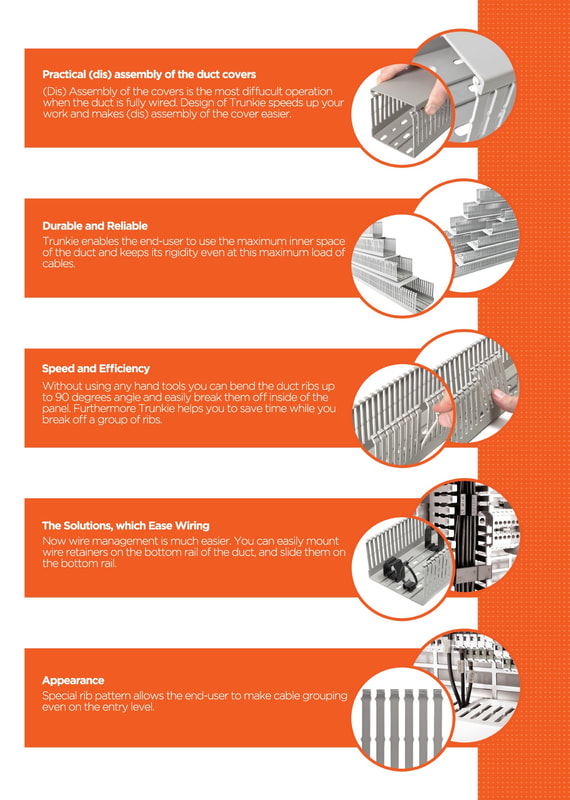 Reasons to use Klemsan Cable Duct / PVC trunking